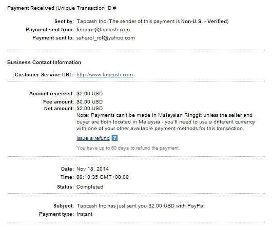 tapcashdotcom-payment-second-notscam